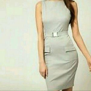 Asos dove gray dress